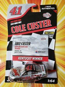 Cole Custer #41 2020 Kentucky Win NASCAR Authentics 2021 Wave 2 1/64 Die-Cast