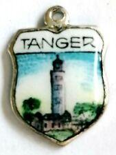Tanger  vintage sterling silver shield enamel travel souvenir bracelet charm
