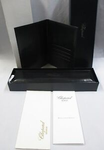CHOPARD Leather Watch & Bracelet Long Box 94001-0051 Passport Card Wallet Papers