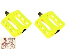 """ODYSSEY TWISTED PC FLOURESCENT YELLOW 9/16"""" BICYCLE PEDALS"""
