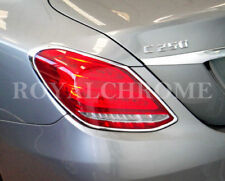 DELUXE  2x REAR LAMP Trim for Mercedes Benz C Class W205 Sedan BRIGHT CHROME