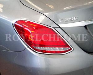 UNICUS REAR LAMP Trim 2x BRIGHT CHROME for Mercedes Benz C Class W205 Sedan