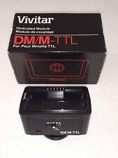 * Vivitar Dedicated Module DM/M-TTL Minolta 3000 4000 Flash MAXXUM X-7000 camera