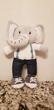 "Baby Gear Gray Elephant Suspenders Plush! 12"" Stuffed Toy."