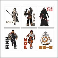 Star Wars Tattoos x 12 - Party Favours - The Force Star Wars - Birthday Party