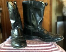 LAREDO Mens Western Cowboy Mid Calf Boots Black Leather Size 11 D
