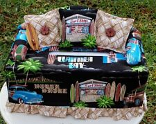 Sofa Couch Tissue Box Cover Surf Shop New Print Handmade In Hawaii