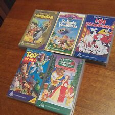 5 X Disney Movies VHS Tapes