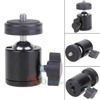 "360 Swivel Mini Ball Head 1/4"" Screw Mount Bracket Holder for DSLR Camera Tripod"