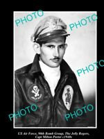 OLD LARGE HISTORICAL PHOTO OF US AIR FORCE 90th BOMB GROUP, CAPT M PORTER c1940