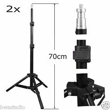 2PC 70 cm REGOLABILE fotografia foto Mini Treppiede Supporto Luce Studio Lightstand