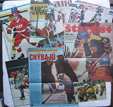 Eduard Uvíra Signed Photo Clippings (2) & other Czech & Russian hockey clippings