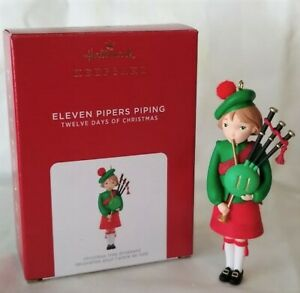 Hallmark 2021 Twelve Days of Christmas Eleven Pipers Piping Ornament