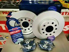 VW BEETLE CADDY GOLF JETTA FRONT BRAKE PADS AND DISCS *COATED BORG & BECK*