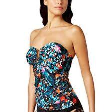 NWD Calvin Klein Exotic Poppy Hardware Convertible XL Multicolor Tankini Top
