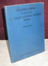 TEACHER'S BOOK TO ACCOMPANY A CHILD'S SECOND NUMBER BOOK 1930 SAUL BADANES