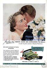 Seife Palmolive Reklame von 1954 Italien Brautpaar Hochzeit Braut wedding ad