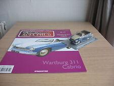 Wartburg 311 Cabrio scale 1/43 + MAGAZINE issue Nr.17 Kultowe AUTA PRL-u
