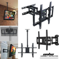 Telescopic Rotary Universal TV Wall Mount Swivel Bracket Tilt Frame Hanger 32-85