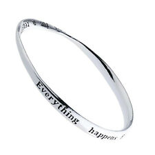 """""""Everything Happens"""" Quote Bangle: 'EVERYTHING HAPPENS FOR A REASON'"""