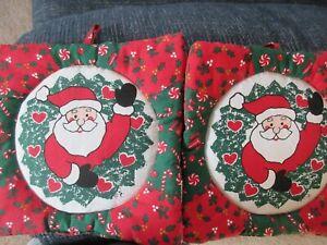 Two Santa Potholders