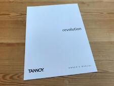 Tannoy Revolution manual handbook