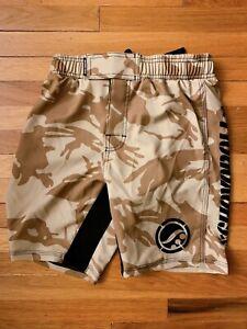 Shoyoroll AP Albino BJJ BRAND NEW Training Fitted Shorts Tan Camo BF20 Jiu Jitsu