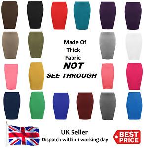 Thic Fabric Womens Midi Pencil Skirt Ladies Plus Size Tube Skirt Bodycon Office
