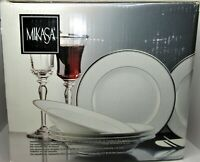 Brand New 20 PIECE Mikasa Platinum Crown Fine China - Service for 4