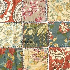 NOBLE EXCELLENCE Villa Sommerset KING QUILT SET SHABBY COTTAGE FLORAL COTTON NWT