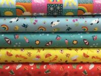 Lewis and Irene 'Whatever the Weather' Collection 100% Cotton fabrics Fat Qua...