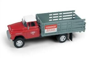 HO Truck Classic Metal Works 30577 1955 Chevy Stakebed Truck Conoco Oil Co.