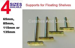 CONCEALED SHELF SUPPORTS BRACKETS FOR FLOATING SHELVES SCREW MOUNT 4 SIZES 1pc