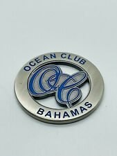 The Ocean Club Bahamas Milled Cutout Golf Ball Marker Coin Mint Rare 4 Seasons