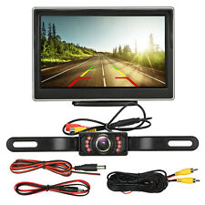 """5"""" TFT LCD Monitor Night Vision Car Backup Camera Rear View HD Parking System CA"""