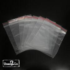 100 Small Zip lock Zipped Lock Resealable Plastic Bag 60X80mm Snap Clip Bag