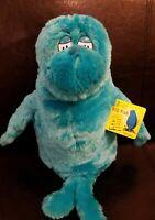 "Dr. Seuss Big Blue Fish Kohls Plush stuffed One fish Two Fish 12"" NEW"