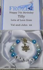 Personalised Bracelet Girls DIsney Frozen theme Birthday  Present
