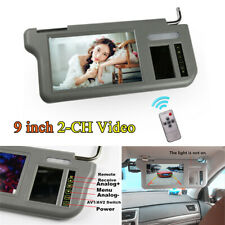9inch 2-CH Video Car Sun Visor LCD Monitor Rear View Mirror For DVD/VCD/GPS/TV