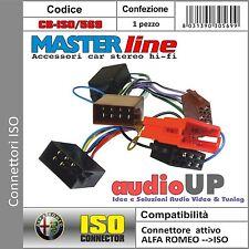 CONNETTORE MINI ISO SISTEMA AMPLIFICATO ECCETTO BOSE SYSTEM ALFA ROMEO 147.