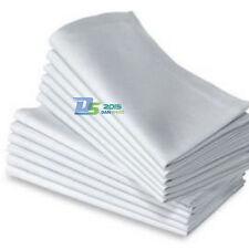 6 Wedding White Catering Serviettes Dinner Party Cloth Napkins Supplies 48x 48cm