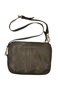 One Teaspoon Womens Leather Clutch Cross Body Black Size OS