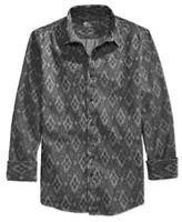 American Rag Men's Swift Geo-Print Long-Sleeve Shirt, Black Shadow, S/M/L/XL/2XL