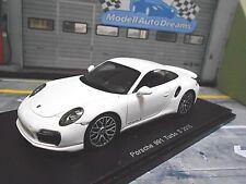 PORSCHE 911 991 Turbo S Coupe weiss 2015 NEU Spark Resin Highenddetail 1:43