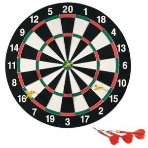 Dartscheibe 43 cm inkl. 6 Dartpfeile Dartboard Dartset Wurfspiel Steeldart