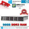 HP ProLiant DL380 G7 2x 4-CORE X5672 3.20Ghz 96GB RAM 16 X 300GB 6G SAS RAILS