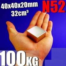 Super Strong N52 Magnet Neodymium 35x35x15mm Rare Earth 100KG + GIFT