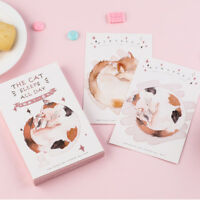 """Sleepy Cat v2"" 30pcs Beautiful Mixed Postcards Set Lot Postcard Bookmark Gift"