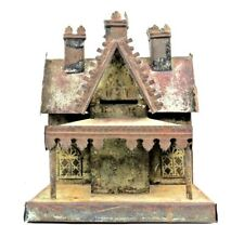 Vintage George Brown 1870's 3-Chimney Cottage Tin Bank