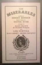 LES MISERABLES - V Hugo - Scripte du film de Robert HOSSEIN - EO num (1982) Rare